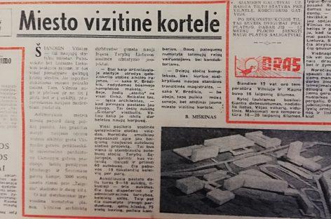 Dabartinės Vilniaus autobusų stoties statybos: istoriniai vaizdai