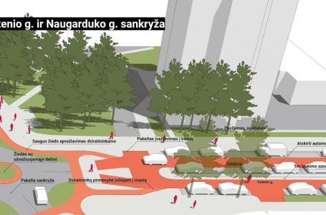 Pokyčių planai sostinės Naujamiestyje: eismas lėtės, gatvės taps patogesnės pėstiesiems