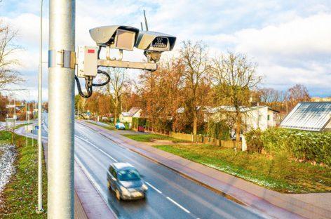 Valstybinės reikšmės keliuose jau įrengta 70 naujos kartos momentinių greičio matuoklių