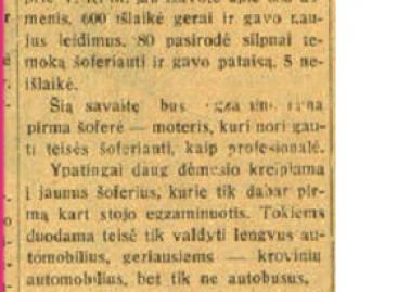 Pirmoji Lietuvoje profesionali vairuotoja moteris – prieš 90 metų