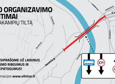 Perorganizuojamas sunkiasvorio transporto eismas Valakampių tiltu, laikinai bus įrengta A juosta