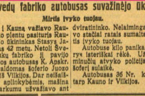 Autobusų avarijos 1928-1930-aisiais: padariniai būdavo skaudūs