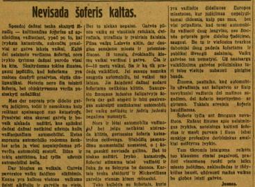 Saugus eismas žmonėms rūpėjo dar 1929-aisiais