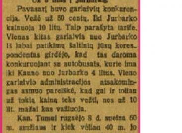 1929-aisiais autobusams teko konkuruoti ir su garlaiviais