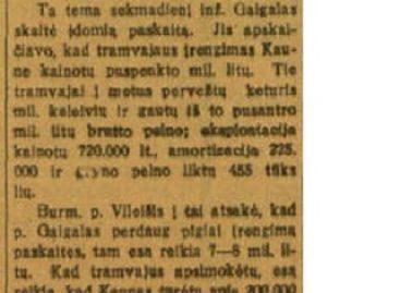 Tarpukariu Kaune svarstyta: autobusai ar tramvajus?