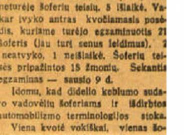 1930-ųjų spaudoje – apie vairuotojų rengimą ir Vilkaviškio autobusų stoties statybas