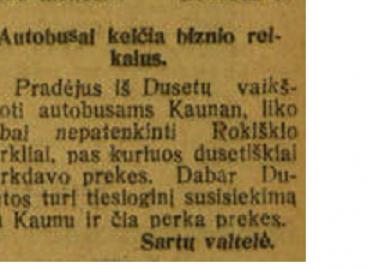 """Kaip 1929-aisiais autobusai sugadino """"biznį"""" Rokiškio verslininkams"""