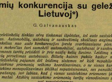 Apie autobusų ir geležinkelio konkurenciją kalbėta dar 1933-iaisiais