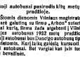 1931-aisiais Vilniuje nuspręsta įsigyti šveicariškų autobusų