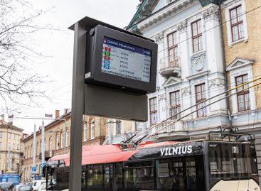 Keleivių patogumui Vilniuje – dar daugiau švieslenčių viešojo transporto stebėjimui realiu laiku