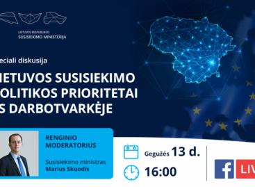 Diskusija: Lietuvos susisiekimo politikos prioritetai ES darbotvarkėje