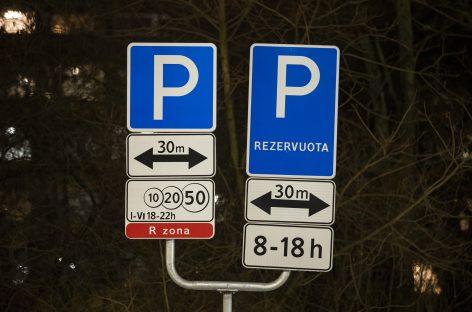 Vilniuje – mažiau rezervuotų parkavimo vietų