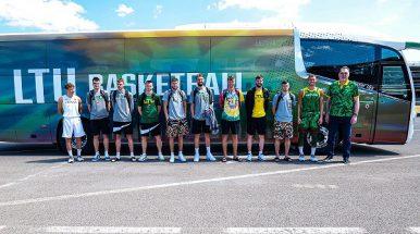Išskirtinio dizaino autobusas – Lietuvos nacionalinei vyrų krepšinio rinktinei (video)