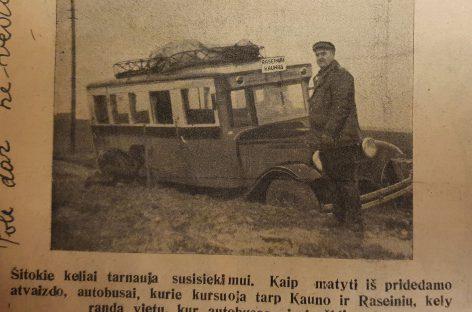 Autobusų avarijų prieškariu Šiaulių krašte būta nemažai