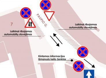 Vilniaus Paupio gatvėje – eksperimentinis eismo valdymas, įtraukiant bendruomenę