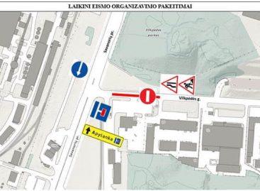Birželio 8–23 d. laikini eismo organizavimo pakeitimai ties Savanorių pr. – Vilkpėdės g. sankryža