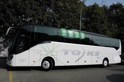 Autobusai važiuoja į Baltarusiją, vežėjai sako nuolat stebintys situaciją