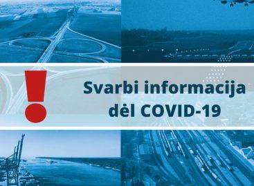 Svarbi informacija dėl Covid-19