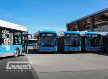 Madrido vežėjai vėl užsisakė elektrinių BYD autobusų