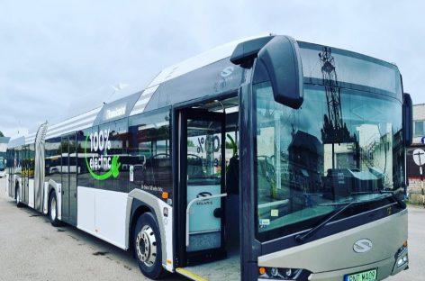 """Šiauliuose – elektrinis """"Solaris Urbino 18 Electric"""" autobusas"""