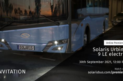 """Rugsėjo 30-ąją – virtualus """"Solaris Urbino LE electric"""" pristatymas"""