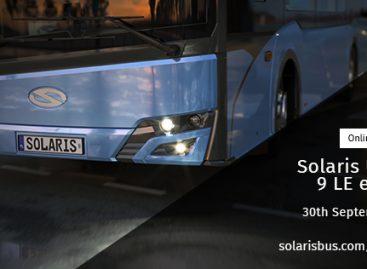 """""""Solaris"""" virtualiai pristatys naują elektrinį autobusą """"Urbino 9 LE"""""""